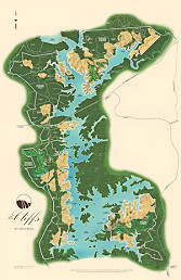 The Cliffs map for Keowee communities